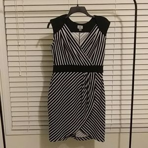 Size 8 black and white striped dress